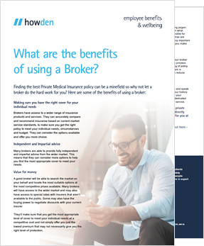 Benefits of a broker - SME