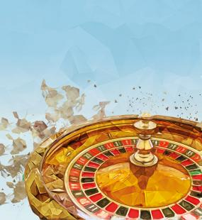 An illustration of a roulette wheel