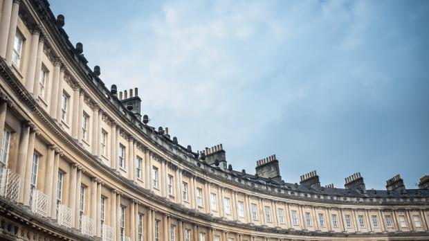 A row of Heritage Properties at The Royal Crescent, Bath