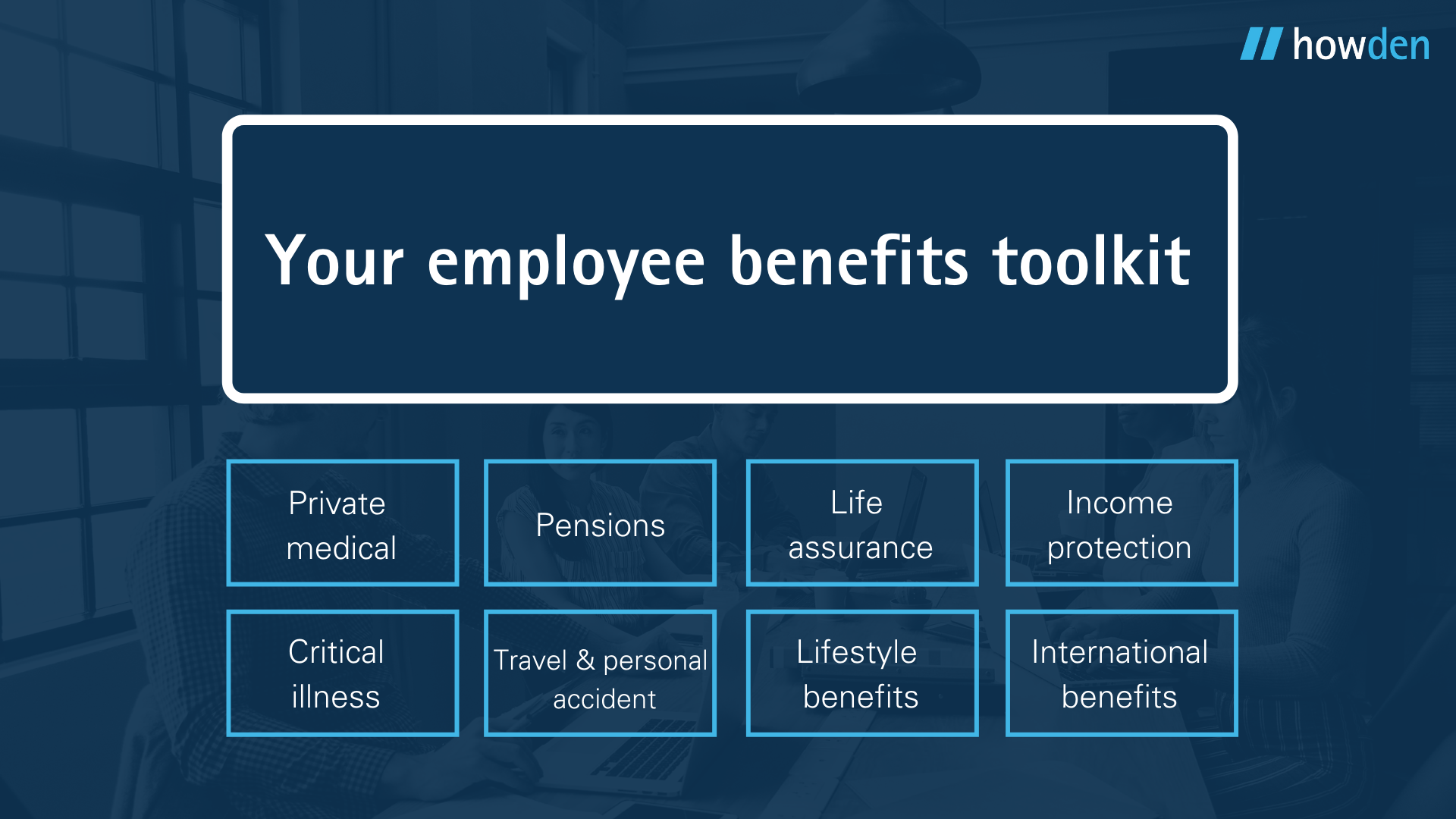 Employee benefits toolkit infographic Howden
