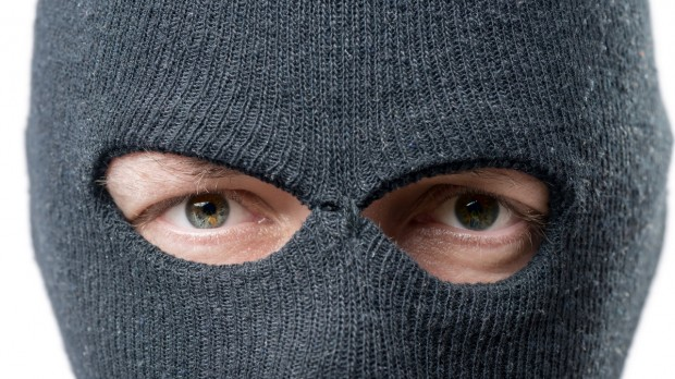 robbers eyes with balaclava on