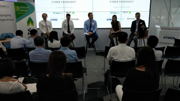 Cyber panel discussion at KPMG, including our very own Edward Wong