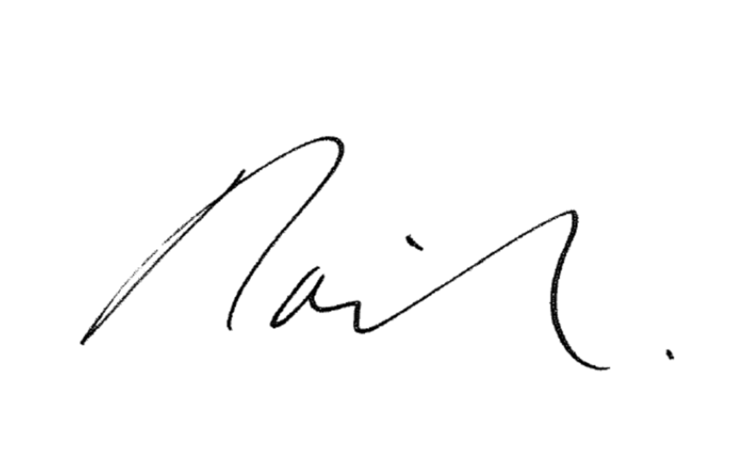 David Howden's signature