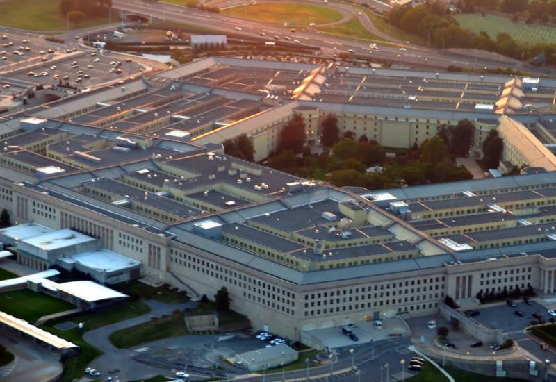 Aerial view the Pentagon building