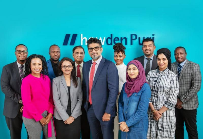A group photo of the Howden Puri team
